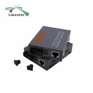 Image 2 - 1 Pair HTB GS 03 A/B Single Mode Gigabit Fiber Optical Media Converter 1000Mbps SC Port 20KM External Power Supply