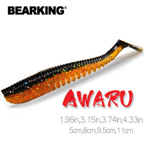 BEARKING 5cm 8cm 9.5cm 11cm Fishing Lures soft lure Artificial Bait Predator Tackle JERKBAIT for pike and bass