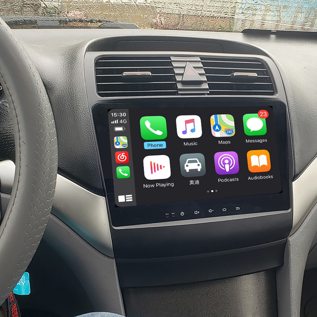 Rádio do núcleo de android 10.0 octa para tsx 2004 2008 1024*600 rádio do carro navegação gps wi fi carplay interno