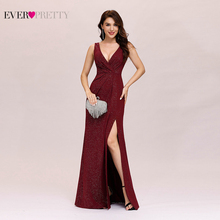 Formal Evening Dresses 2020 Ever Pretty Sexy A Line V Neck Backless Gillter Long Party Gowns With Split New Year Robe De Soiree