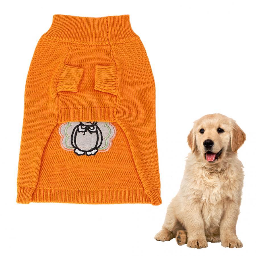 Свитера для собак из шерстяной пряжи с рисунком снеговика, Рождественский свитер с вышивкой для домашних животных, мягкая удобная одежда, одежда для собак