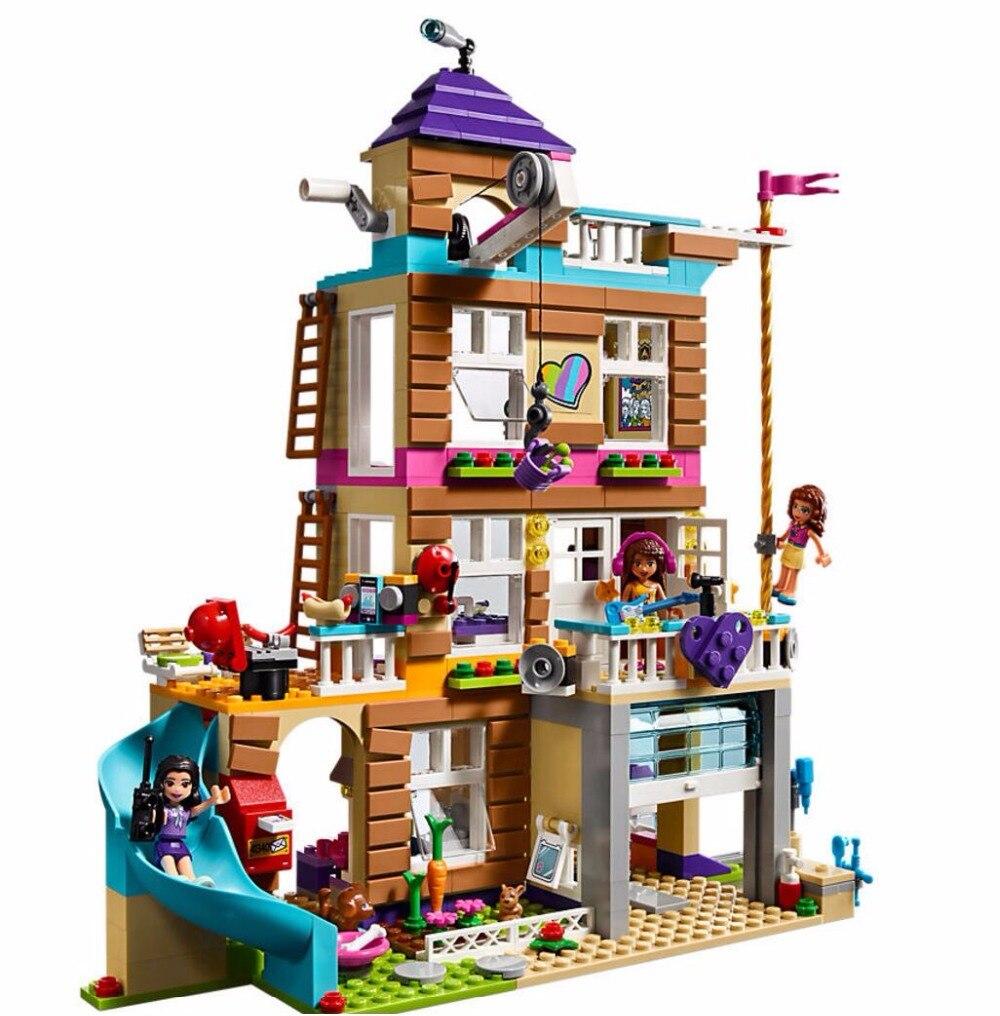 Nouveaux amis filles série la maison de l'amitié Set blocs de construction briques enfants cadeaux Compatible avec Legoinglys 41340 meilleur cadeau