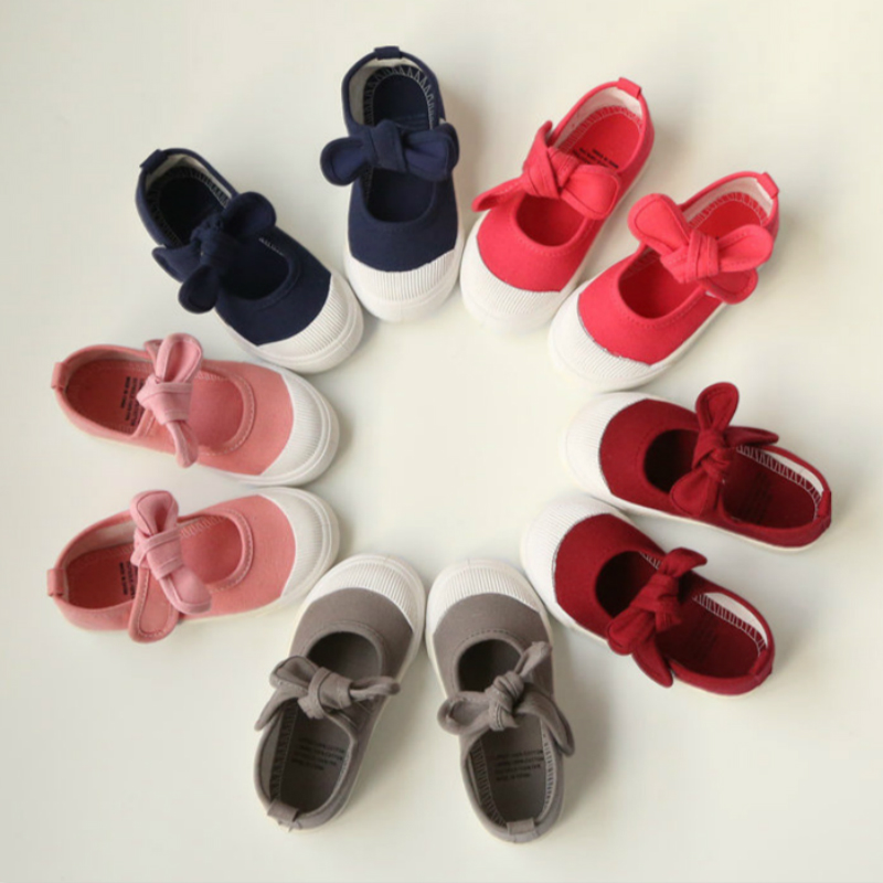 Kids Shoes Colorful Flats With Bowknot Princess Shoes For Baby Girl Sports Running Sneakers For Baby Boy Children's Shoes