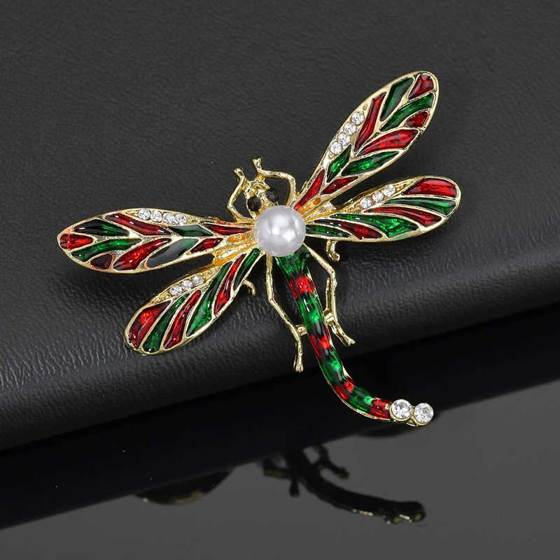 Yobest Baru Berbagai Macam Warna Besar Capung Kristal Serangga Bros Pin Fashion Gaun Mantel Aksesoris Perhiasan