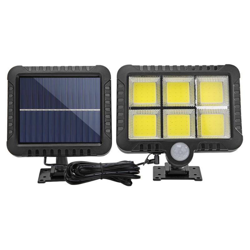 120LED 600LM COB Solar Lamp Motion Sensor Night Lighting Waterproof Outdoor Path Wall Spotlights Solar Panel Lamp