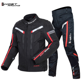 GHOST RACING Motorcycle Jacket Protective Gear Motorbike Riding moto jacket Waterproof windproof Moto Clothing Motorcycle Suits диван угловой артмебель атлант ут микровельвет фиолетов левый