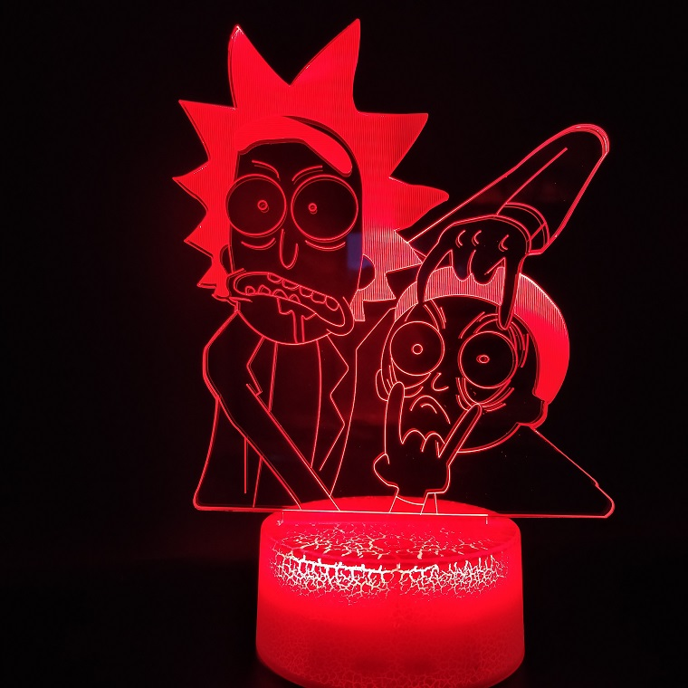 3D Lamp Famous Cartoon Rick And Morty Bedroom Decoration Best Present For Teenager Color Changing Led Night Light Lamp Dropship
