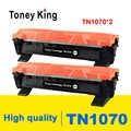 Toney Re 2 PCS Cartuccia di Toner TN1070 TN 1070 Compatibile per il Fratello HL-1110 1112 DCP-1510 1512R MFC-1810 Stampante Con Il Circuito Integrato