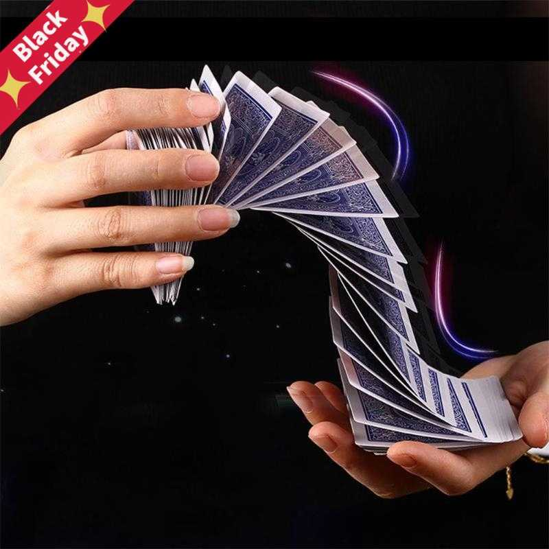 1Set Magic Electric Deck(connection by invisible thread) of Cards Prank Trick Prop Gag Poker Acrobatics Waterfall Card props