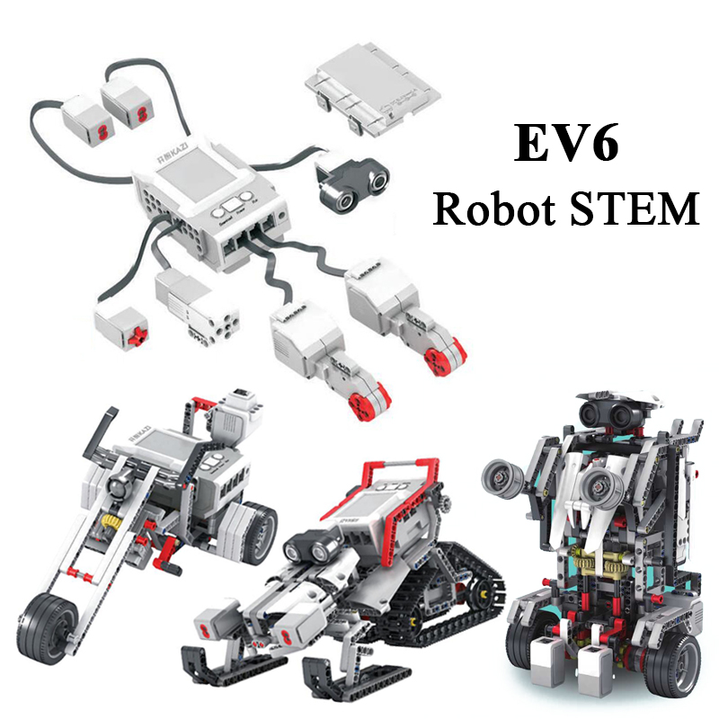 EV3 EV6 Compatible With 45544 Science Education Building Block Robot Creative Programming Intelligent APP Program Toy Gifs