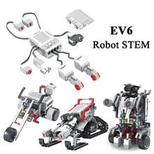 EV3 EV6 kompatybilny z 45544 edukacja naukowa klocki do budowy Robot kreatywne programowanie inteligentna aplikacja Program zabawka gify