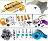 WLtoys-Accesorios de mejora de Metal, caja de cambios diferencial delantera, Kit de Motor 1/18 540, chasis, brazo Servo, adaptador hexagonal, eje de rueda, 390
