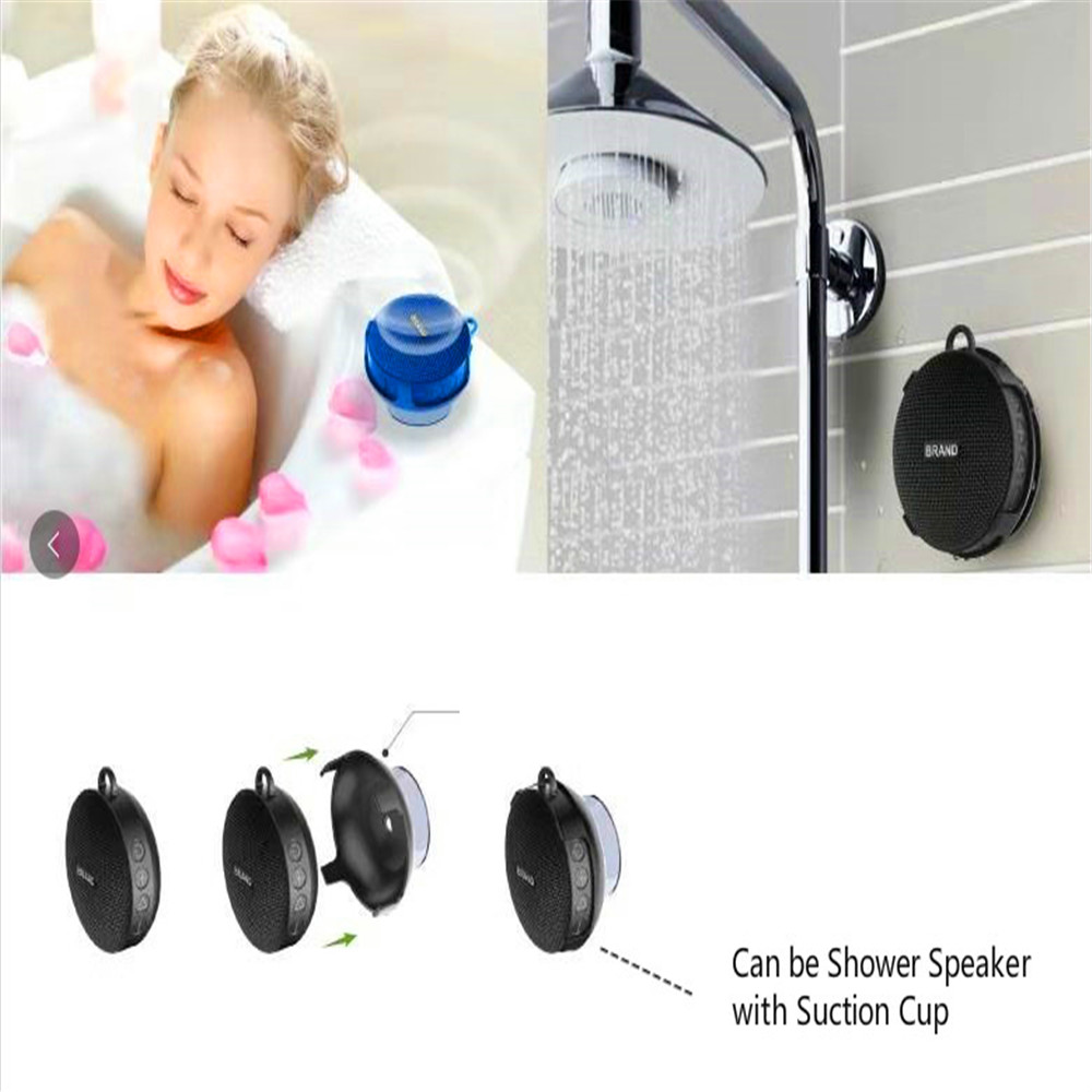 waterproof Bluetooth Speaker for both Bicycle and Showers  5