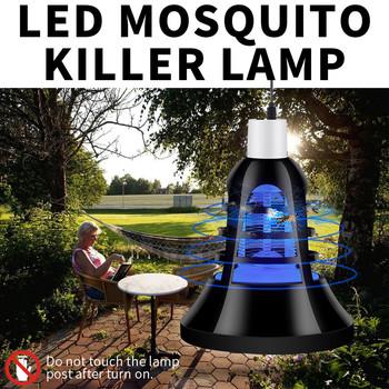 USB E27 żarówka UV LED 8W lampa przeciw komarom 2 W 1 pułapka na komary do zabijania owadów żarówka muchy robaki Zapper lampka nocna dla dziecka tanie i dobre opinie ISHOWTIENDA as the picture Insect Killing Lamp 10 years Dropshipping or CSV Drop Ship Home Garden High Quality