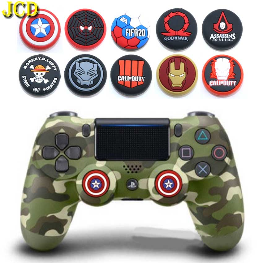JCD 2PCS Silicone Analog Thumb Stick Grips Cover For PS4 Pro Slim For PS3 Controller Thumbstick Caps For Xbox 360 One Switch Pro