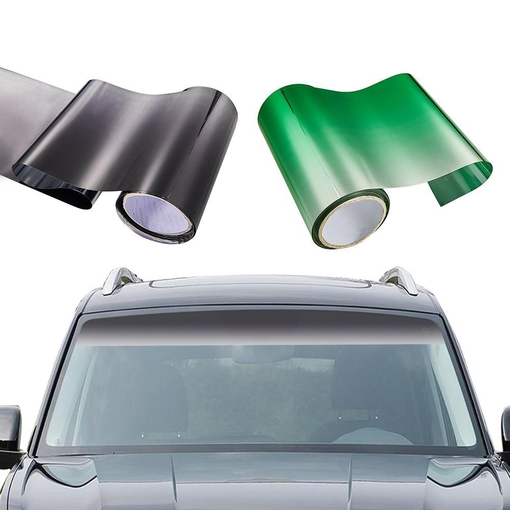 Car Window Sun Visor Strip Tint Film 150x20CM Car Sticker UV Tinting For Front Windshield UV Shade DIY Decal Banner Car Styling