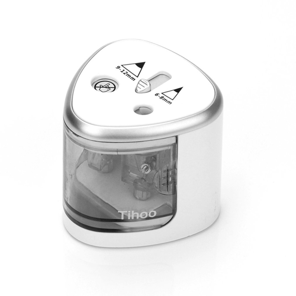 Unique 2 Compact  Holes Art Sketch Electric Pencil Sharpener School Stationery Automatic Pencil Sharpener Office Accessories