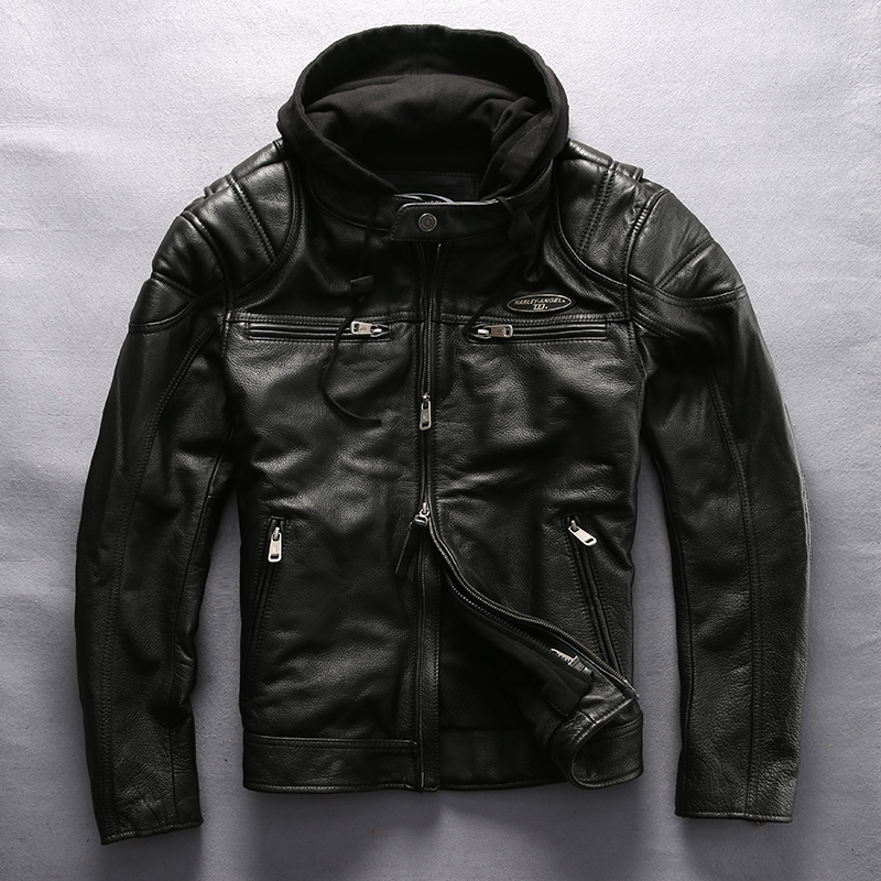 Jacket Harley Angel Professional Coat Men Motorcycle Winter Thick for Black Hooded
