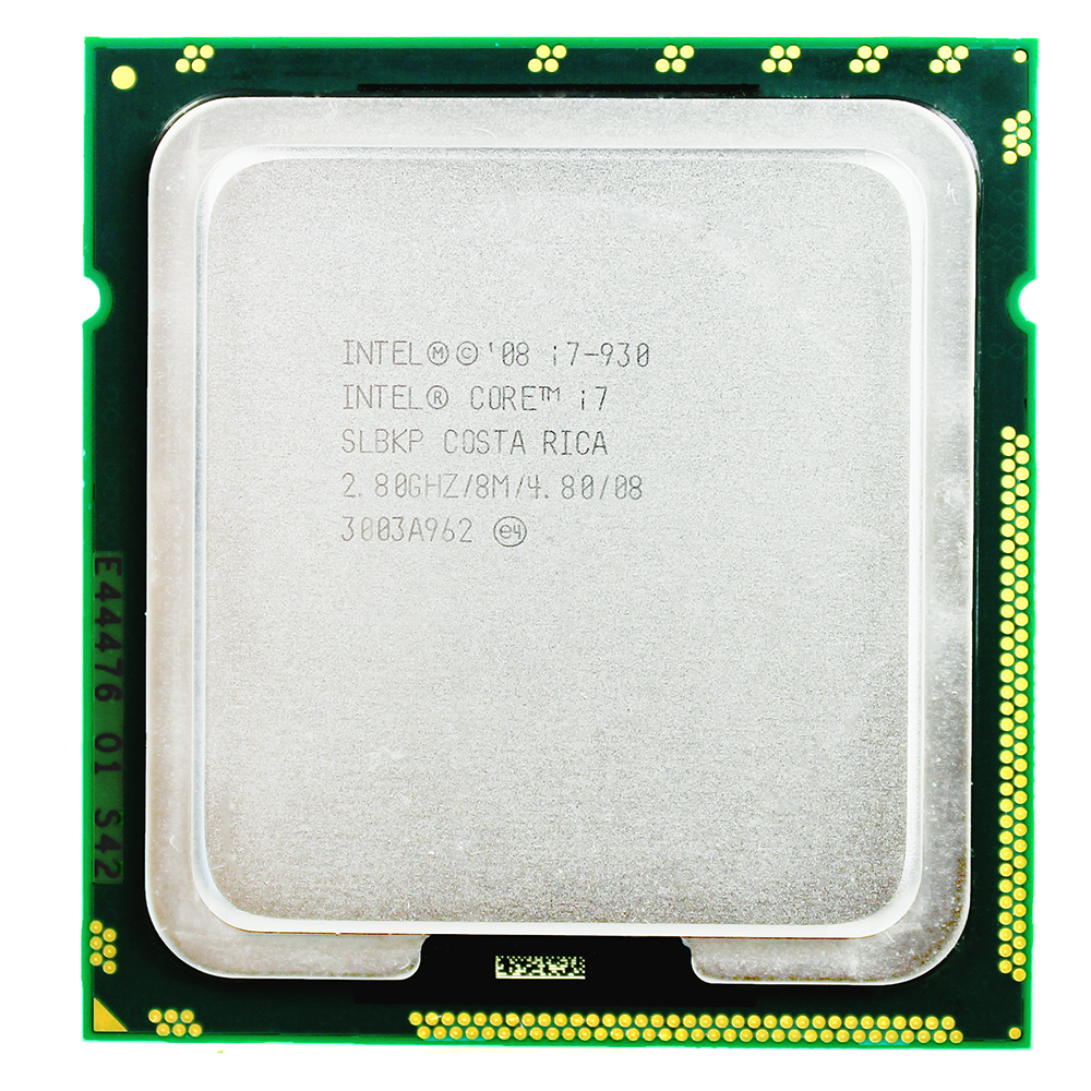 Intel Quad Core I7 930 CPU Desktop Processor i7-930 8M Cache 2.8 GHz 4.80 GT/s QPI FC LGA1366 image