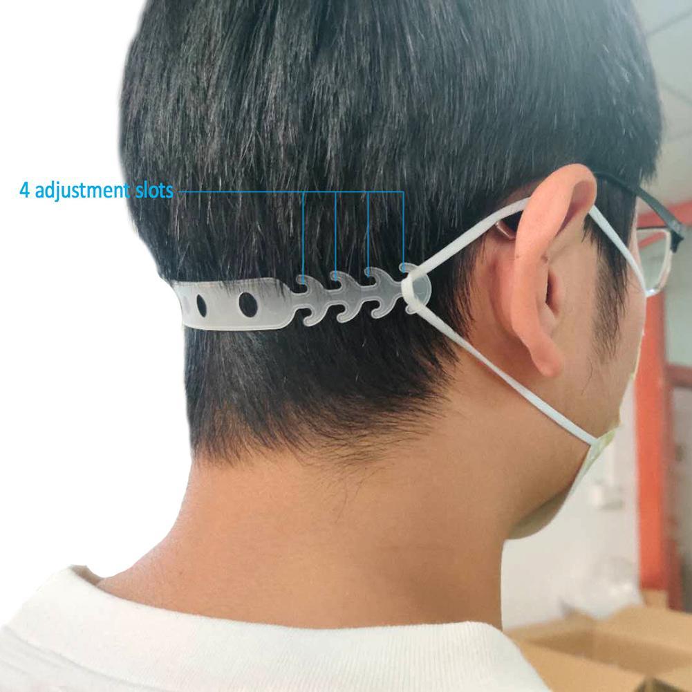 5Pcs/set Soft Face Mask Ear Hooks Buckle Kids Adjustable Earache Preventions Fixer For Disposable Masks Anti Flu Anti Virus Mask