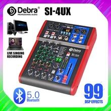 Debra Pro 4 canal DJ regulada con 99DSP Efecto Reverb Bluetooth 5,0 USB de karaoke USB para PC micrófono grabación condensador