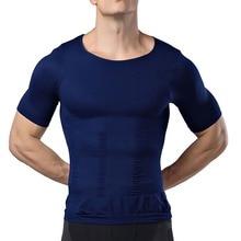 2021 Men's Slimming Shaper Vest Male Belly Abdomen For Corrector Compression Body Building Chest Muscle Tummy Shirt Corset