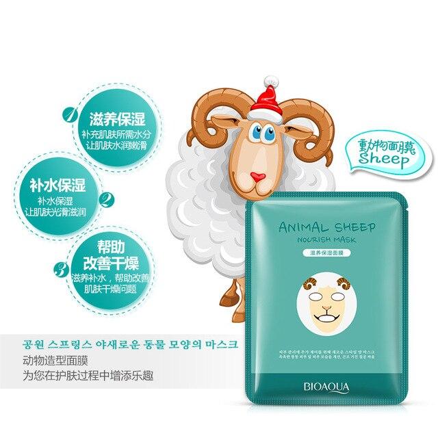 20PCS Tiger Panda Sheep Dog Face Mask Deep Moisturizing Sheet Mask Oil Control Hydrating Cute Animal Face Masks Korean Mask 1