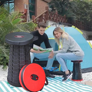 Outdoor folding stool Portable retractable plastic stool Travel subway stool Camping fishing folding stool Furniture chair мебел