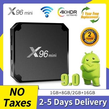 X96mini Android TV BOX QHDTV Amlogic S905W Quad-Core Support Spain IP TV M3U Germany italia IP TV BOX Smart TV 4K NO APP Include