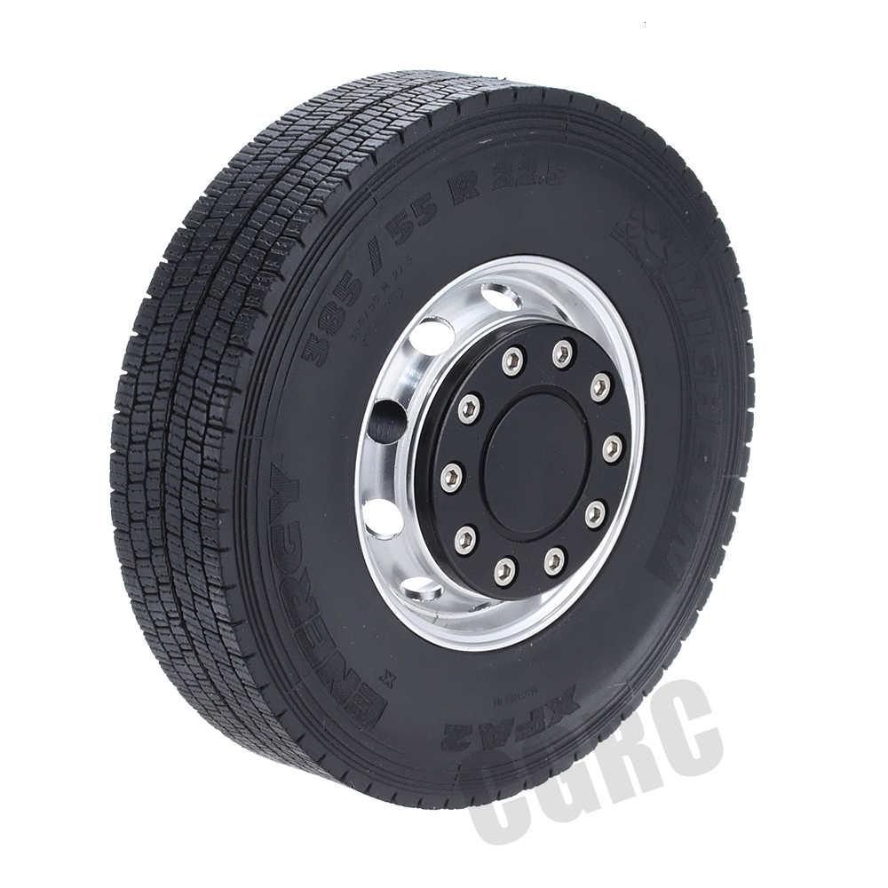 1 Pasang CNC Paduan Unpower Roda Depan Rim untuk 1/14 Tamiya RC Pria Truk Scania R620 Actros Lesu