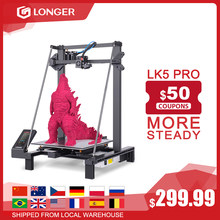 Impresora 3D LONGER LK5 Pro FDM tamaño 300*300*400mm Código Abierto 4,3