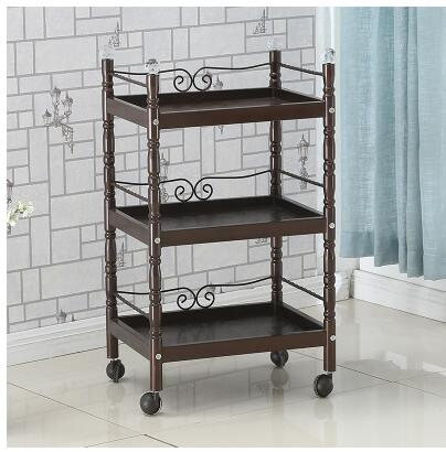 Beauty Salon Trolley Tieyi Beauty Salon Trolley Three-layer Nail Tool Cart Multi-functional Shelving Move