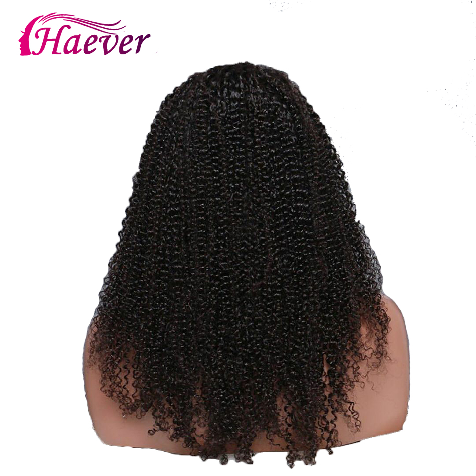 Haever 13x4 Lace Front Brazilian Curly Human Hair Wigs 180 Remy Hair Weave New Hair Wig For Women Baby Hair Bleached Knots