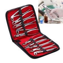 Extracting Forceps Tool-Kit Dental-Pliers Tooth with Adults 10pcs/Set
