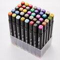 12/24/36/48/60 cores ponta dupla arte marcador canetas aquarela fino forro marcadores desenho pintura caneta escova material escolar 04379