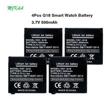 MJKAA New Arrive Li-Po Lithium Li-polymer Batteries 3.7V 500mAh Rechargeable Li-ion Polymer Battery Spare for Q18 Smart Watch best seller li polymer battery 3 7v 500mah li polymer battery for jjrc h37 rc quadcopter wholesale high quality