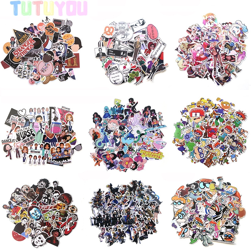 PC9 Wholesale 20set/lot Fantasy Funny TV Show Scrapbooking Stickers Decal For Laptop Luggage Graffiti Decal Sticker image
