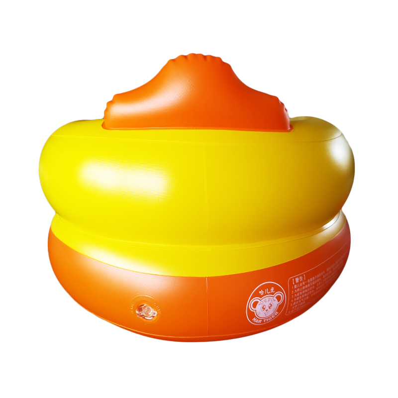 Little yellow duck peacock music baby inflatable sofa baby learning seat baby dining chair stool multifunction portable with toy