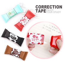 1 Piece Creative Candy Shaped Correction Tape Stickers School Office Supplies Student Press Type 3.5 Meters Free Shipping G36