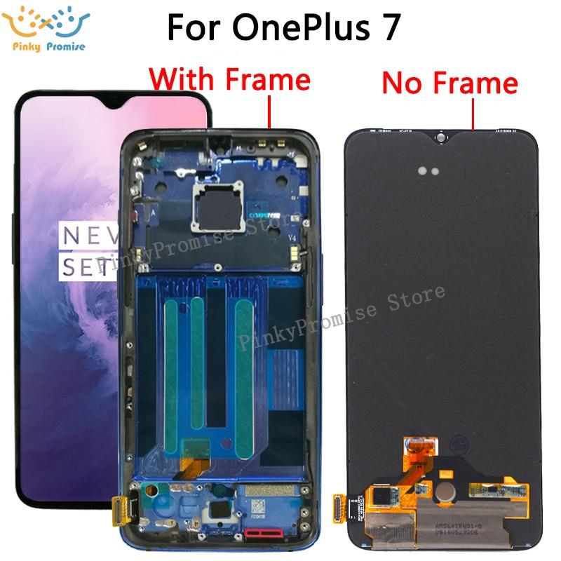 7 oneplus 用交換液晶ディスプレイ + タッチスクリーンデジタイザアセンブリの交換 oneplus 7 液晶  グループ上の 携帯電話 & 電気通信 からの 携帯電話用液晶ディスプレイ の中 1