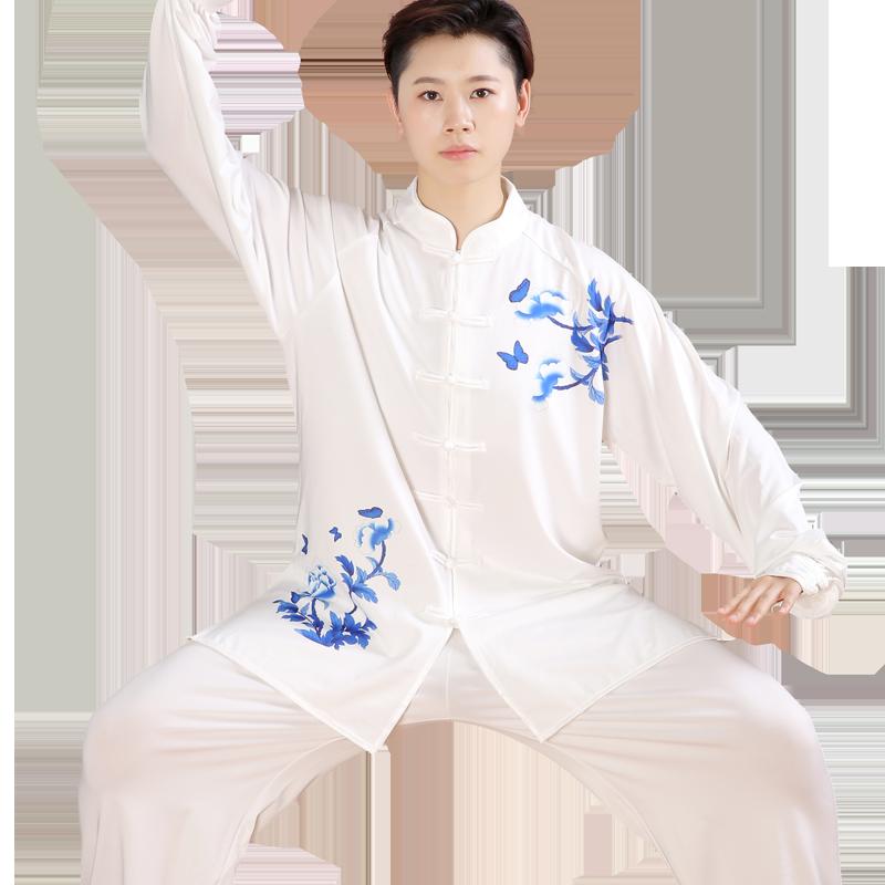 2019 Traditional Chinese Martial Arts Jiu Jitsu Chinese Kung Fu Wushu Uniform Performance Costume Tai Chi Suit For Men Women