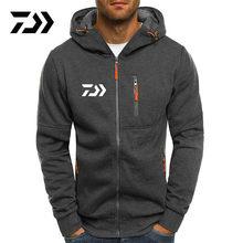 Casaco de pesca com capuz jaqueta esportiva masculina secagem rápida daiwa correndo jaqueta de pesca zíper moletom com capuz roupas de pesca esportivas