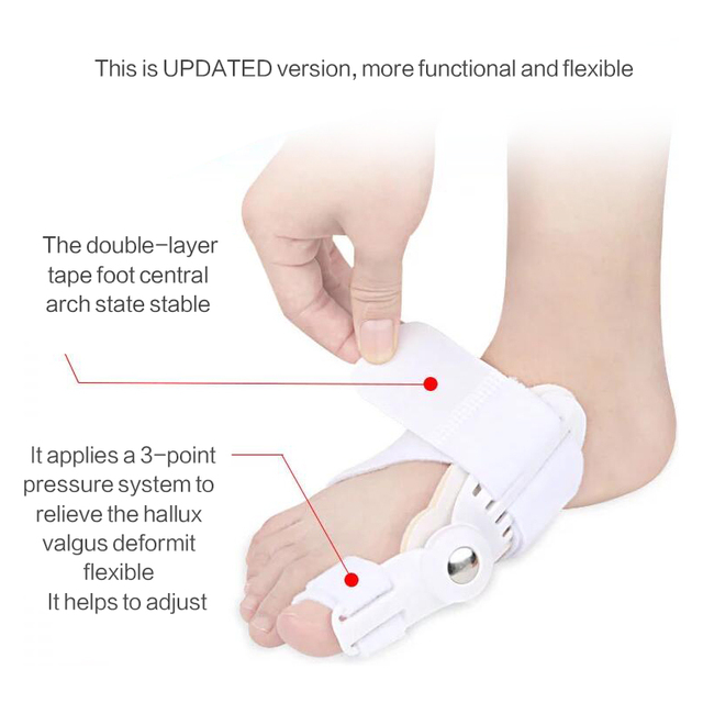 USA 2Pcs Toe Protector Feet Care Pedicure Tool Bunion Hallux Valgus Corrector Orthopedic Supplies Big Toe Splint Straightener 5