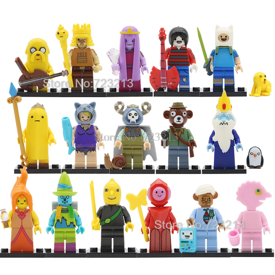 Single Finn Jake Adventure Time Figure Marceline The Ice King BMO Prismo The Lich Susan Strong Building Blocks Model Bricks Toys