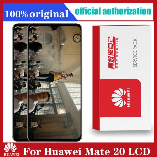 Ban Đầu 6.53 Màn Hình Hiển Thị Có Khung Thay Thế Cho Huawei Mate 20 Màn Hình Cảm Ứng LCD Bộ Số Hóa Mate20 HMA l29 HMA l09