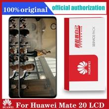 Huawei Mate 20 LCD 터치 스크린 디지타이저 어셈블리 Mate20 HMA l29 HMA l09 용 프레임 교체 용 원본 6.53 디스플레이