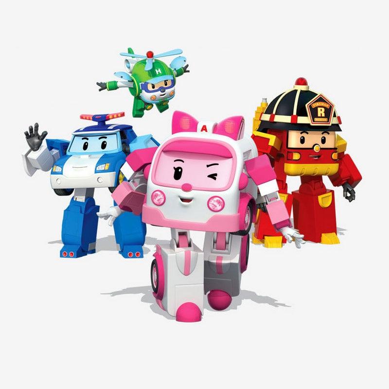 1pcs Robocar Poli Korea Poli Car Kids Toys Robot Anime Action Figure Toys For Children Gift