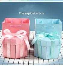 Caja de explosión de amor sorpresa para manualidades, regalo de cumpleaños de San Valentín con Kit de bricolaje