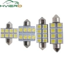 цена на White Bright 31MM 36MM 39MM 41MM 8 SMD 5050 Parking Tail LED Led C5W C10W Interior Festoon Dome Light Reading Lamp Door Bulb