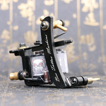 Tattoo Gun 10 Wrap Coils Motor Iron Frame Electric RCA Portable Shader Light Weight Equipment Best Tattoo Coil Machine Favourite